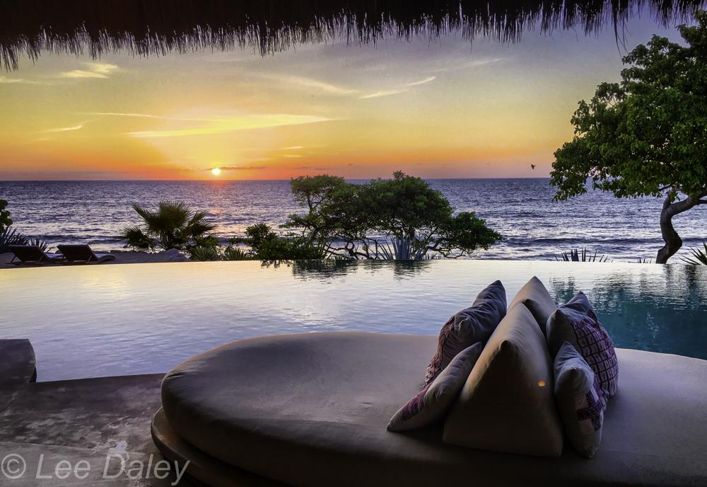 Casa Majani sunset over the Bay of Banderas