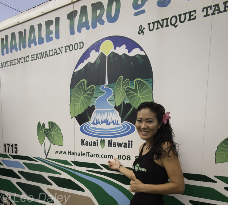 In Kauai, a bumper crop of food trucks, Hanalei Taro & Juice Company, authentic Hawaiian cuisine, lau lau, lomi salad, poi, Kalua pork, taro smoothies