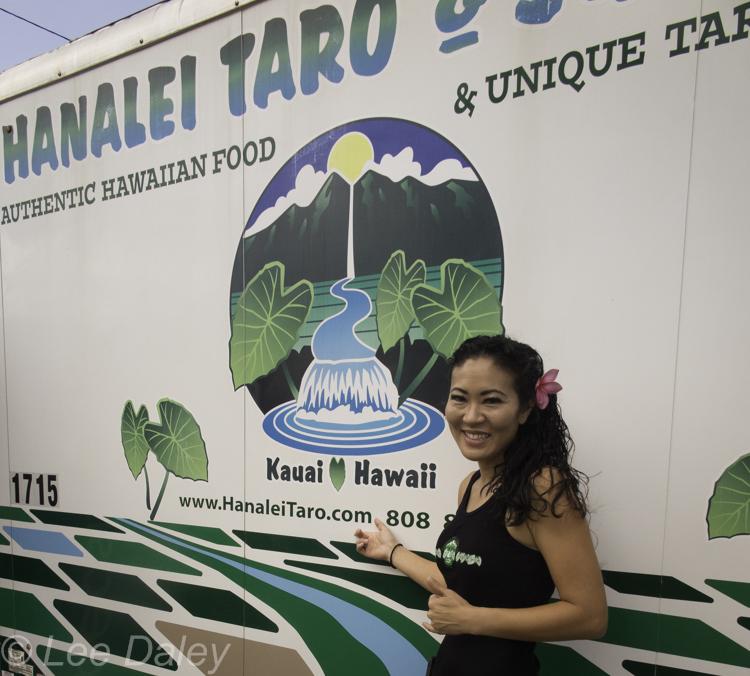 In Kauai, a bumper crop of food trucks, Hanalei Taro & Juice Company, authentic Hawaiian cuisine, lau lau, lomi salad, poi, Kalua pork, taro smoothies