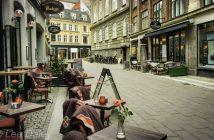 Sidewalk cafes, Copenhagen, Denmark city sights