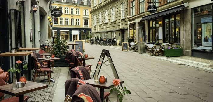 Copenhagen in The Danish Girl's Footsteops, Sidewalk cafes, Copenhagen, Denmark city sights