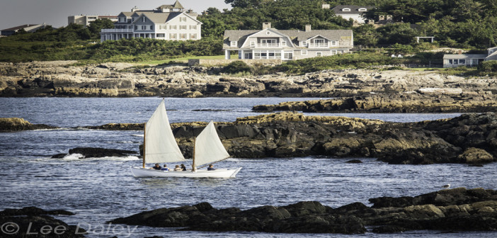 Ogunquit, a beautiful place by the sea,Marginal Way, Maine, lobster boats