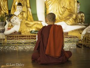 Meditation at Shwedagon Pagoda