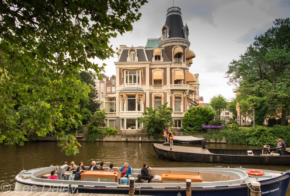 Amsterdam: Bikes, Bridges and Bread , boating on the canal, AmsterdamBoating on the canal