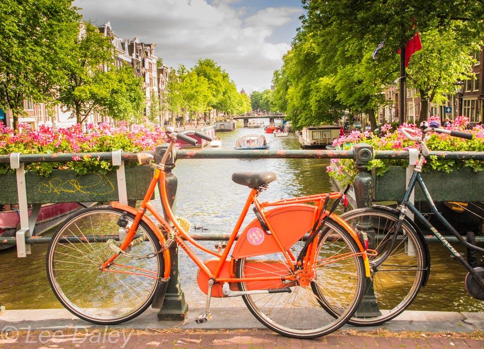 Amsterdam: Bikes, Bridges and Bread Bicycleson bridge, Amsterdam