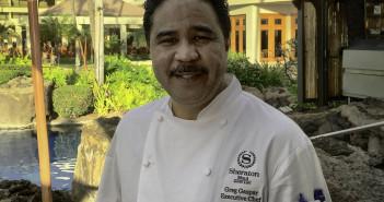Chef Greg Gaspar, Sheraton Maui, fine dining Maui, chef interview, chef recipe.Sheraton Maui Resort & Spa Executive Chef Greg Gaspar