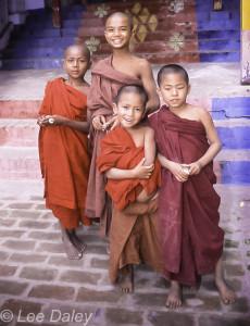 novitiate monks, Bagan, Myanmar