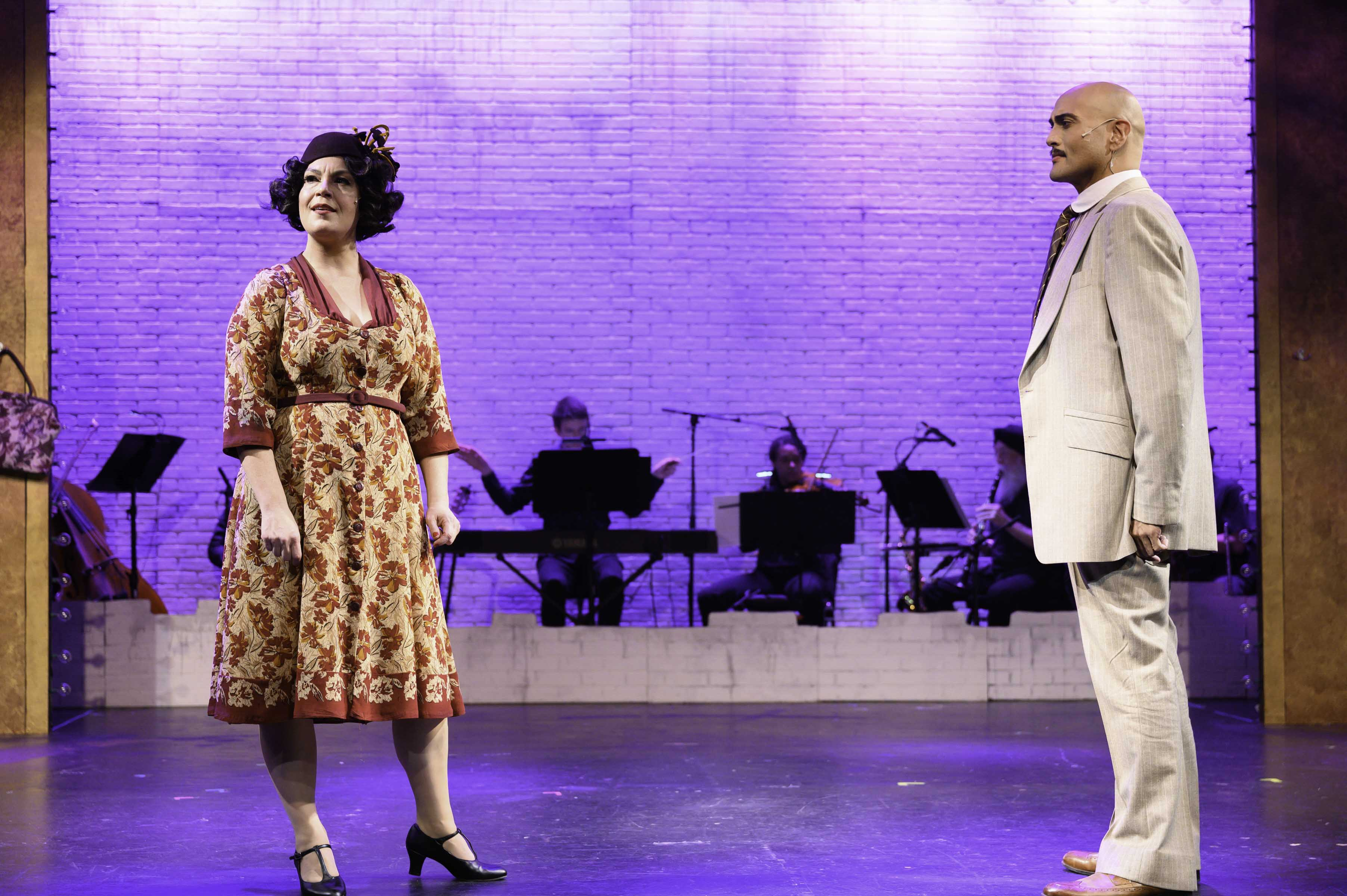 """Mother Roseand Herbie in """"Gypsy"""" the play now at Alcazar Theater, San Francisco, California"""