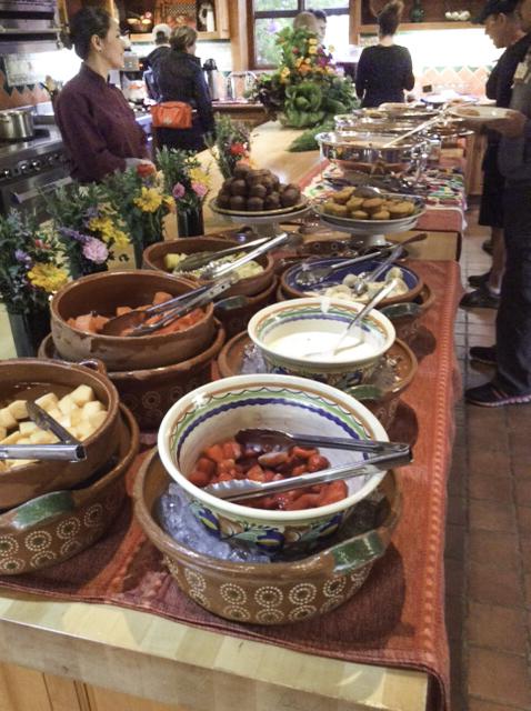 Organic All-Natural Breakfast buffet, La Cocina Que Canta, Rancho La Puerta, Mexico