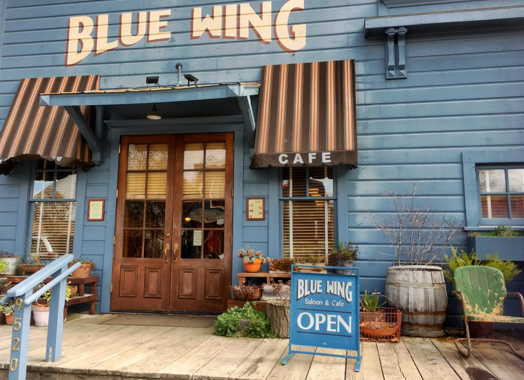 Lake County: A Sweet Spot Getaway north of San Francisco, Blue Wing Saloon & Cafe, Upper Lake, CA, live music, Sunday Brunch.