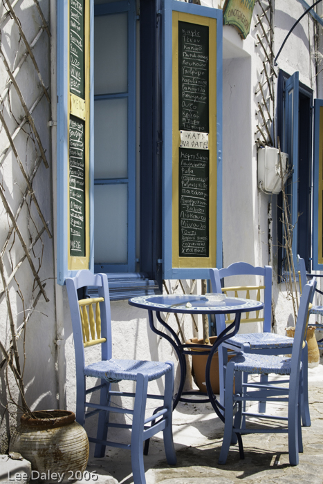 Georgós Nu Wines, Greek island taverna with al fresco dining, Wines named for Greek islands and gods