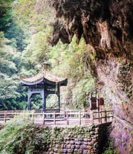 Black Mountain Valley, China's Enchanted Oasis, trailside pagoda