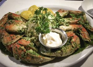 Pacifica, CA, fresh crab seafood platter, Nick's Restaurant and Bar, oceanfront dining, Pacifica, Rockaway Beach