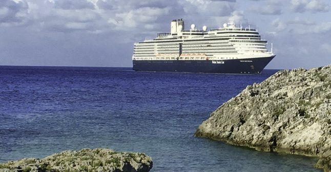 Dinner at Sea with Holland America Line, our cruise ship awaits as we explore Half Moon Cay, Holland America Line, Nieuw Amsterdam,
