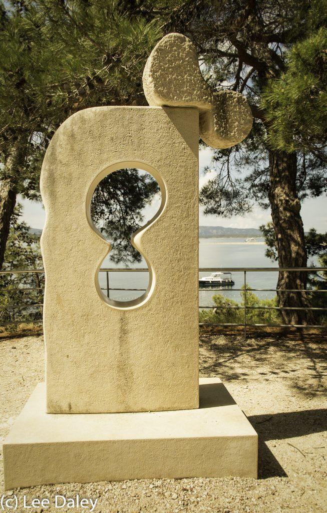 Brac Island. Croatia: Sun, Sea and Stone, Adriatic promenade, Bol artist modern art sculpture, Bol promenade, Bol sandstone sculpture, Brac artist, Brac Island, Brac Island promenade, Croatia,