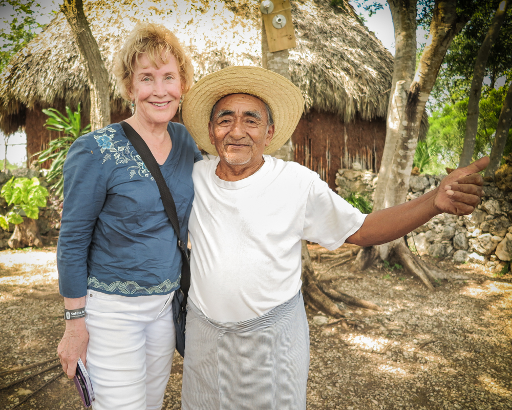 Yucatan, Mexico, Lee Daley with her Mayan friend