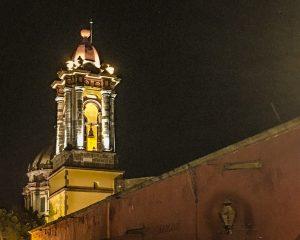 Cathedral, San Miguel de Allende at Hotel Matilda, boutique hotel, Mexico,