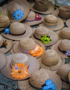 Oaxacan hats at marketplace