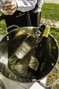 Chardonnay & Croquet at Sonoma Cutrer Winery, Chardonnay on ice and ready to serve, Russian River Valley