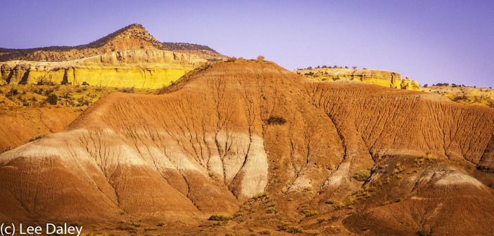 O'Keeffe, New Mexico through O'Keeffe eyes, O'Keeffe Country, New Mexico, Red rock cliffs of Jurassic Age near Ghost Ranch