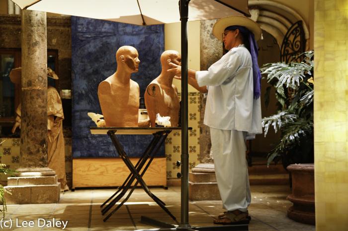 San Miguel de Allende at Hotel Matilda,, Mexico hotel,art studio, Mexican sculptor, sculptor studio, San Miguel artist sculptor, San Miguel colonial art studio