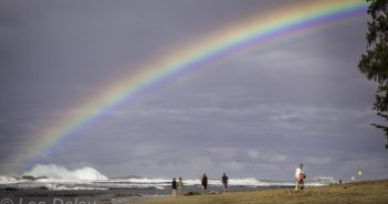 In Kauai, a bumper crop of food trucks, rainbow over the ocean, beach combing on Kauai's north shore