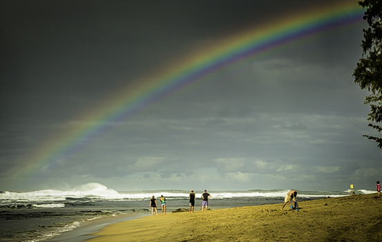 Romantic Kauai, Hawaii's Garden Isle, chasing rainbows.