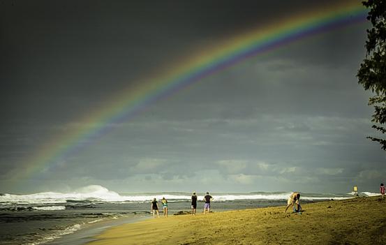 Romantic Kauai, Hawaii's Garden Isle, chasing rainbows.