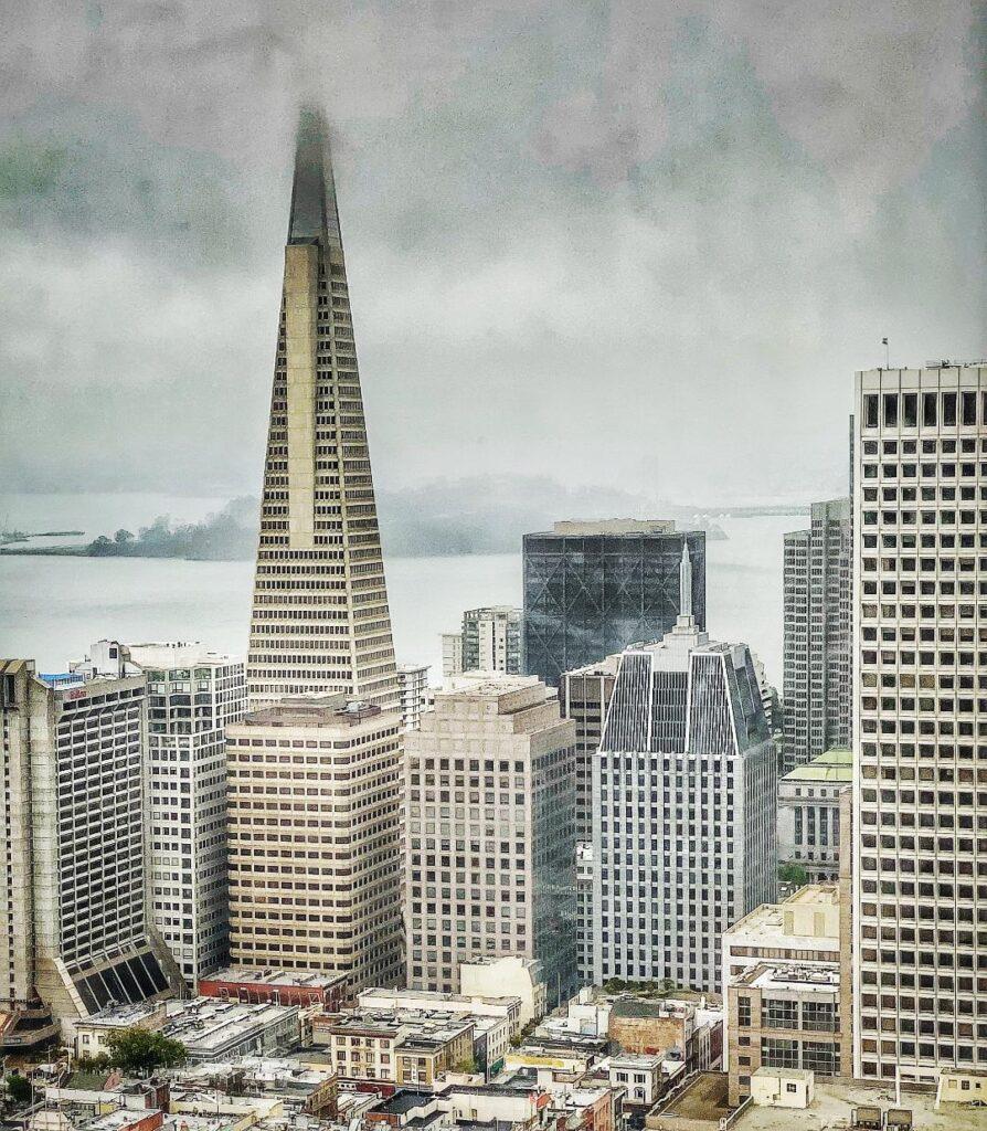 Transamerica Pyramid, Top of the Mark View,San Francisco