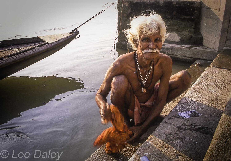 Varanasi: On the Banks of The Ganges, Ganges River. sacred river, India, Ghats