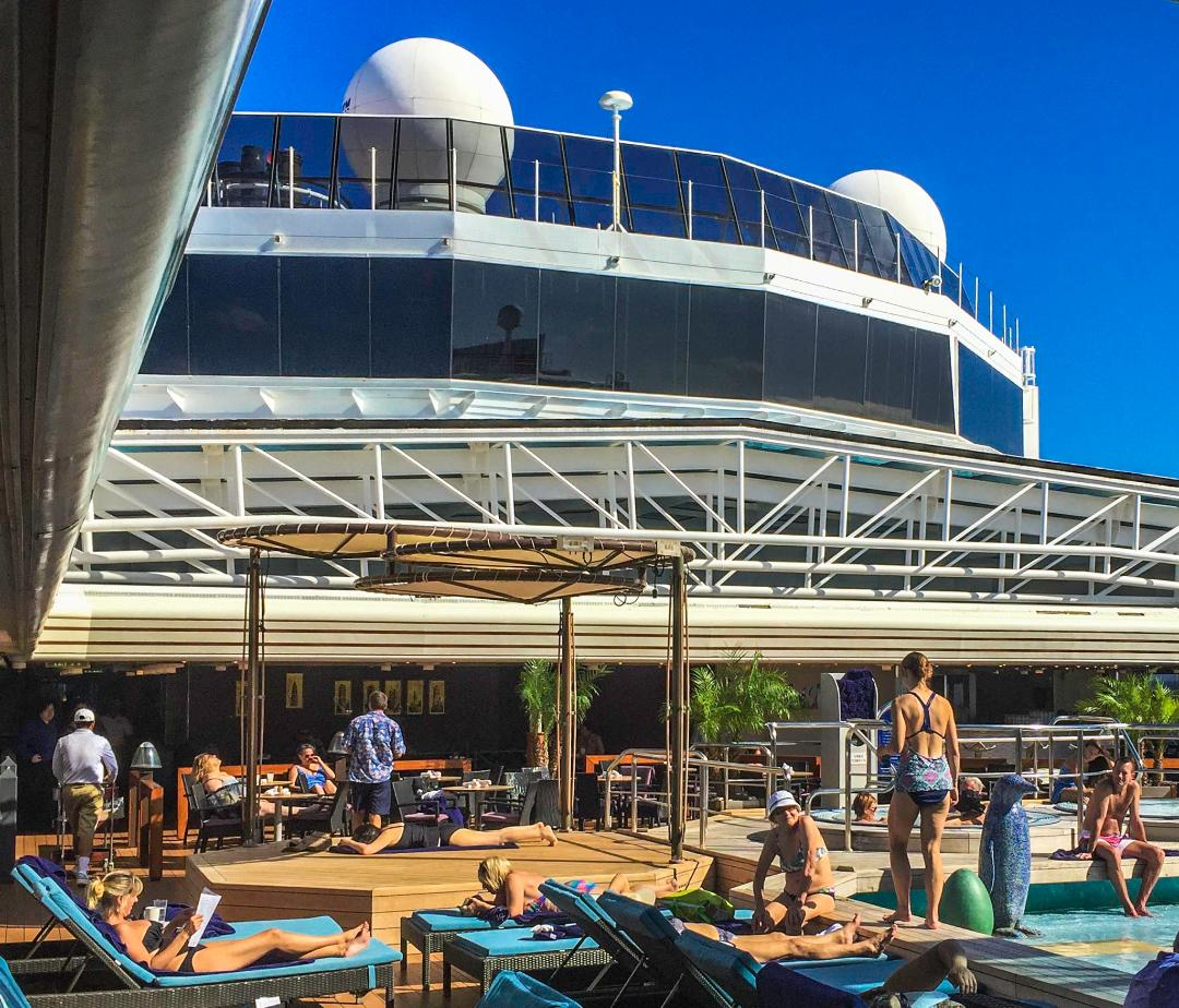 Dinner at Sea with Holland America Line, Lazing by the Pool, Niew Amsterdam cruise